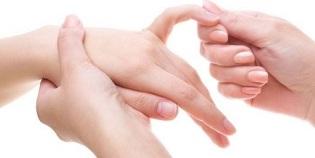 Valu sormede liigestes diabeedites